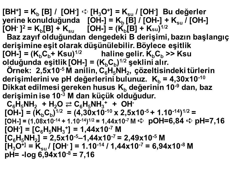 [OH-] = (KbCb)1/2 = (4,30x10-10 x 2,5x10-5 + 1.10-14)1/2 =